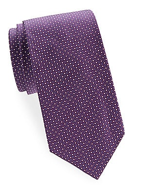 Mini Dots and Square Silk Tie