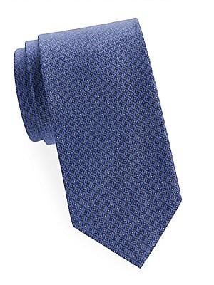 Abstract Geometric Silk Tie