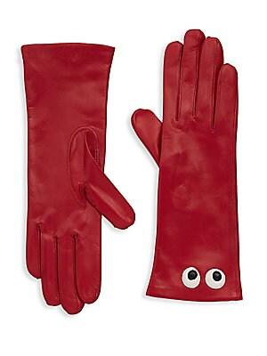 Eye Leather Gloves