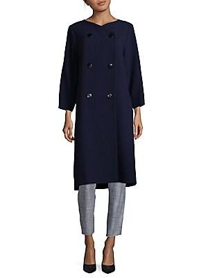 Long-Line Wool Coat