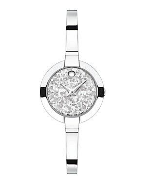 Bela Crystalized Stainless Steel Bangle Bracelet Watch