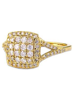 14 Kt. Gold Cushion-Cut Diamond Ring