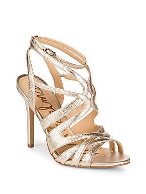 Aviana Metallic Strappy Leather Sandals
