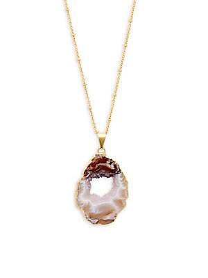 Agate Stone Pendant Necklace