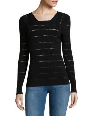 Linear Grid Sweater