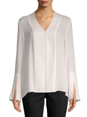 BEADED SILK BLOUSE