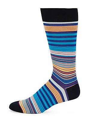 Stripe-Print Socks