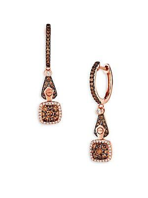 Chocolatier Vanilla & Chocolate Drop Earrings