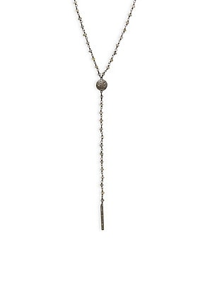 Click here for Labradorite Champagne Diamond Y Necklace prices