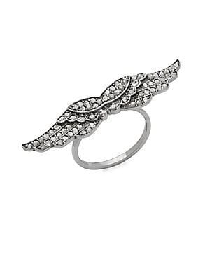 Champagne Diamond Wings Ring