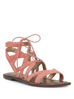 Gemma Lace-Up Leather Sandals