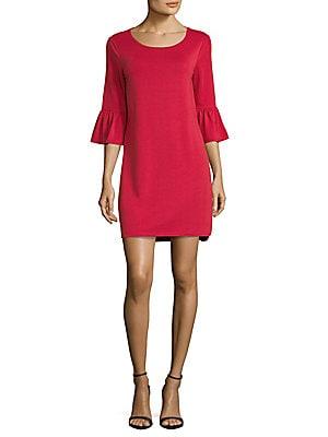 Flare-Sleeve Dress