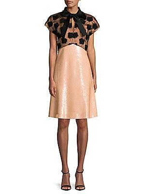 Applique Blouson Dress