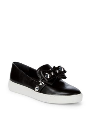 VAL STUDDED LEATHER SLIP-ON SNEAKERS