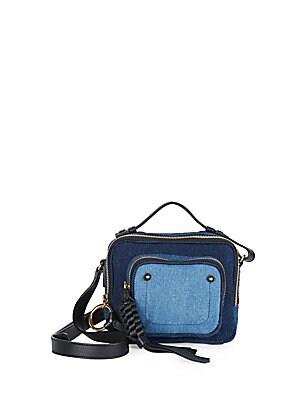 Patti Denim Patchwork Crossbody Bag