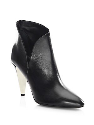 Angelina Leather Point Toe Booties