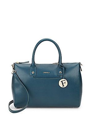 Linda Textured Leather Satchel
