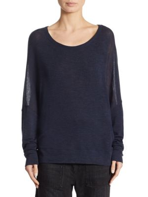 Dropped Shoulder Wool Sweater