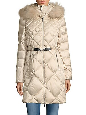 1 madison female furtrimmed quilted zipfront parka