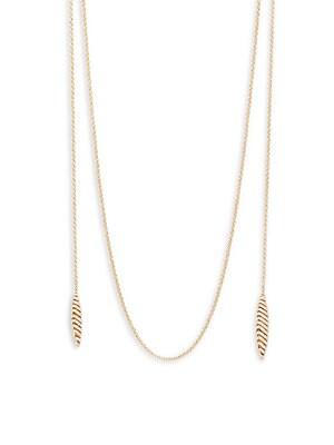 Artemis Pavé Long Wrap Necklace