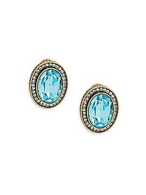 Oval Crystal Earrings