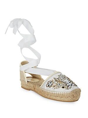 Adriana Embellished Espadrille Sandals