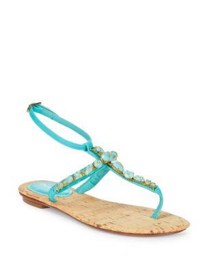 Louise Embellished Thong Sandals
