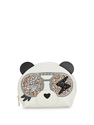 Allegra Panda Leather Cosmetic Bag
