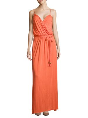 Crossover Sleeveless Maxi Dress