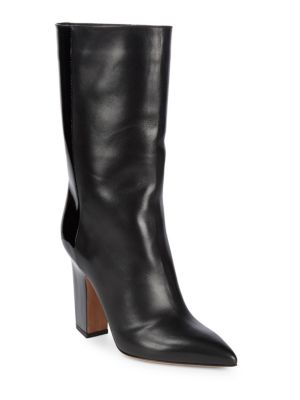 Patent Leather Pointed Booties
