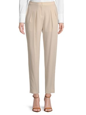 Pleated Silk Pants