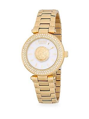 Embellished Stainless Steel Bracelet Watch