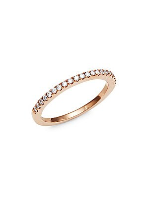 14K Rose Gold and Diamonds Ring