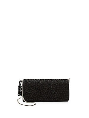 Floral Beaded Leather Clutch
