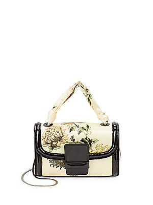 Small Floral Top-Handle Bag