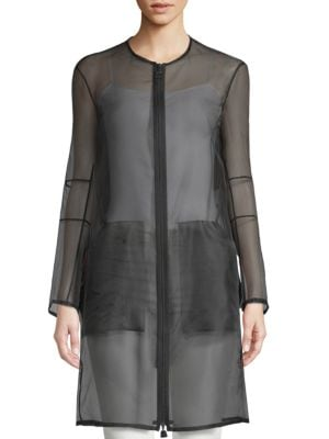 Deidra Silk-Blend Sheer Jacket