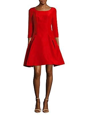 Fit-&-Flare Silk Dress