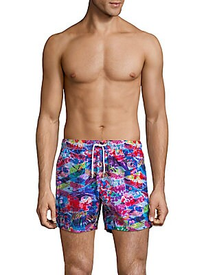 Floral-Print Swim Shorts