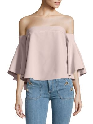 371f1817eeab09 MILLY ITALIAN CANDY OFF-THE-SHOULDER TOP