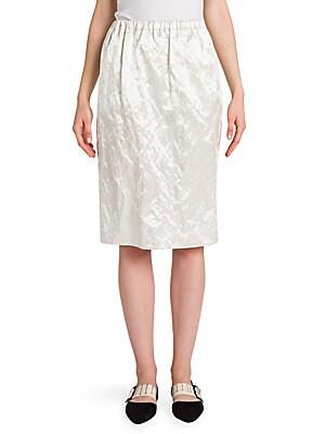 Metallic Satin Skirt