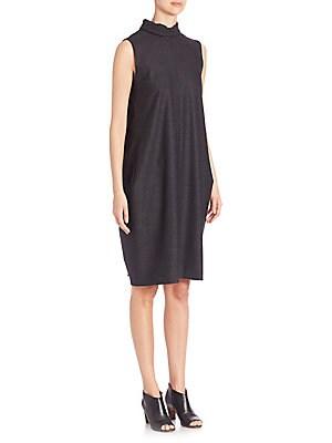 Mockneck Sleeveless Dress