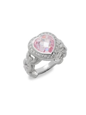 FONTAINE CRYSTAL & SAPPHIRE HEART RING