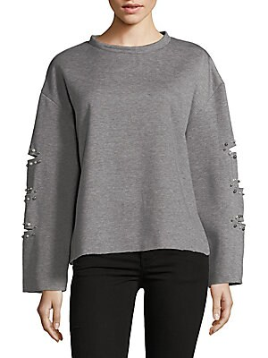 Beaded Oversized Sweater