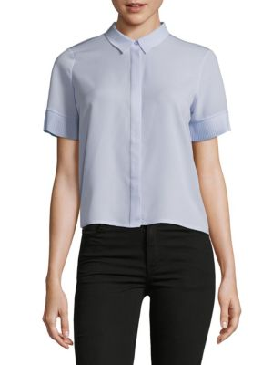POINT COLLAR BUTTON-DOWN SHIRT