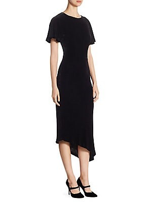 Asymmetric Velvet Dress