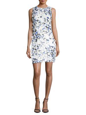 Applique Printed Lace Dress