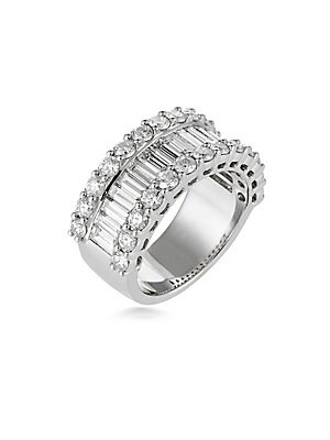 Click here for Diamond and 18K White Gold Wedding Band  3.50 TCW prices