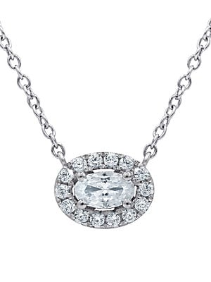 Click here for Diamond and 14K White Gold Pendant Necklace  0.3 T... prices