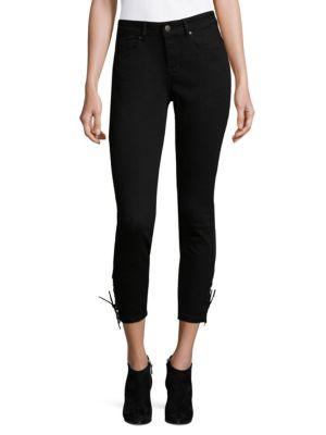 Lace-Up Crop Jeans