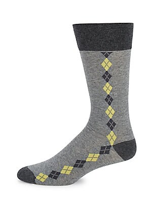 Argyle Accented Socks